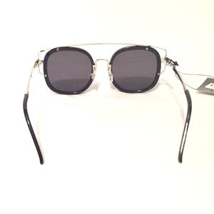 82ad0ef1e9 October Love Accessories - Black   Silver NWT Hipster Wide Frame Sunglasses